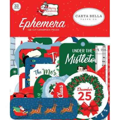 Carta Bella Merry Christmas Die Cuts - Ephemera